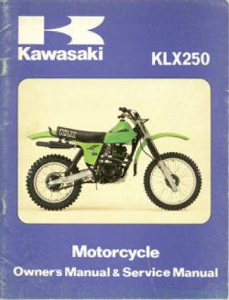 Used Official Kawasaki KLX250A Factory Service Manual