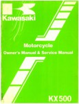 Used Official 1986 Kawasaki KX500B2 Owners Service Manual