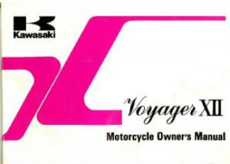 Official 1990 Kawasaki ZG1200-B4 Voyager XII Owners Manual