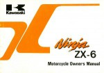 Official 1994 Kawasaki ZX600E2 Ninja ZX-6 Factory Owners Manual