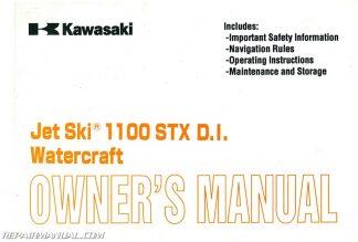 1996-2002 Kawasaki 1100 ZXi 1999 1100 STX Jet Ski Factory