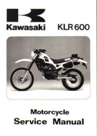 Official 1984-2007 Kawasaki KLR250 KLR600 KLR650 Factory Service Manual