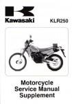 Official 1985-2005 Kawasaki KLR250D Factory Service Manual Supplement