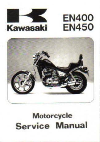 Official 1985-1990 Kawasaki EN450 EN500 EX500 Factory Service Manual