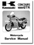 Used Official 1986-1990 Kawasaki ZG1000A Concours Factory Service Manual