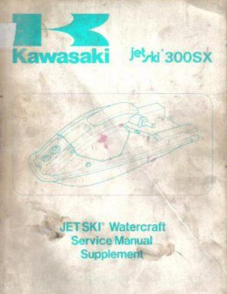 Used Official 1987 Kawasaki JS300 A-1 Jet Ski 300SX Factory Service Manual Supplement