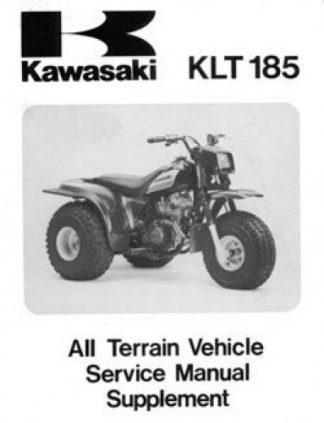 1986 Kawasaki KLT185-A1 Service Manual Supplement