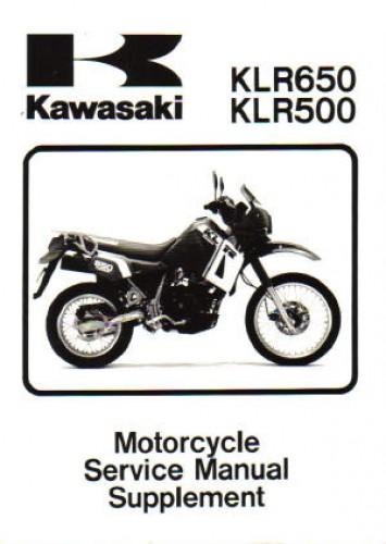 1987 2007 kawasaki klr650 motorcycle service manual supplement. Black Bedroom Furniture Sets. Home Design Ideas