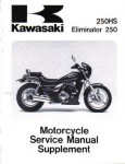Used Official 1988-1992 Kawasaki EL 250 Eliminator Factory Service Manual Supplement