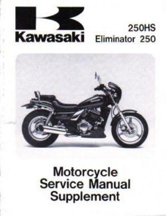 Used Official 1988 Kawasaki EL250-B2 Eliminator Factory Service Manual Supplement