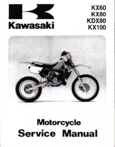 1988 2004 kawasaki kx60 kdx80 kx80 kx100 service manual rh repairmanual com KX 100 Rider Size 125 Kawasaki KX100