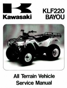 Official 1988-2002 Kawasaki KLF220A Bayou Factory Service Manual