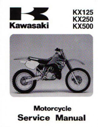 Official 1988 Kawasaki KX125 KX250 KX500 Factory Service Manual