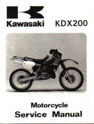 Official 1989-1994 Kawasaki KDX200 Factory Service Manual