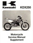 Official 1991-1995 Kawasaki KDX250 Factory Service Manual Supplement