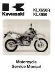 1993-1996 1999 2001 Kawasaki KLX650 Motorcycle Service Manual