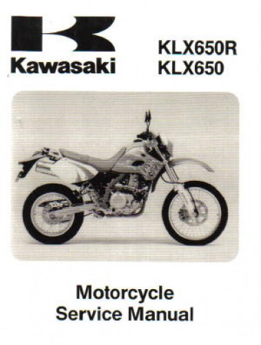 1993 1996 1999 2001 Kawasaki Klx650 Motorcycle Service Manual