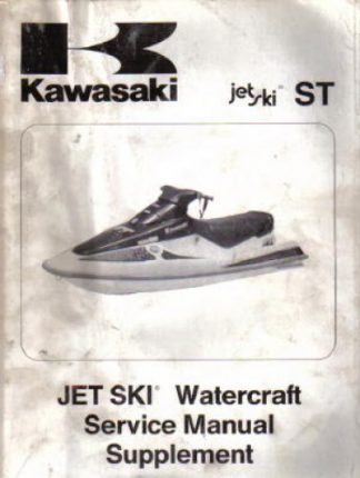 Used Official 1994 Kawasaki ST Jet Ski JT750 A1 Factory Service Manual Supplement