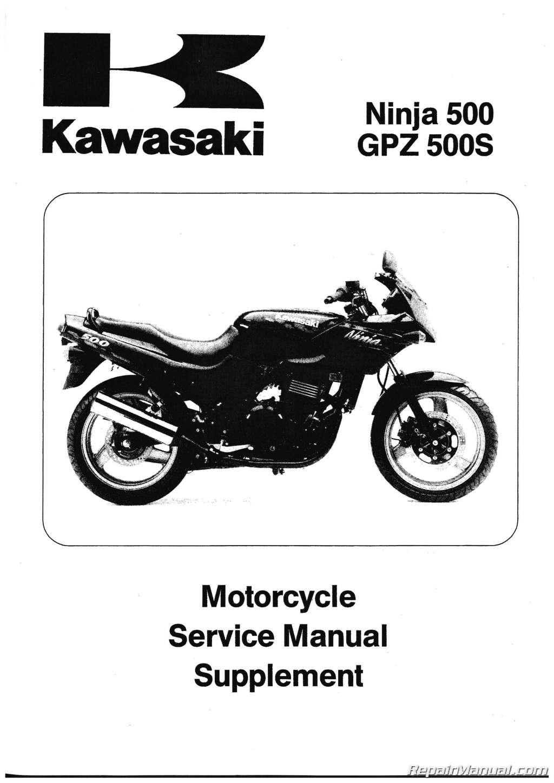 1994-2009 Kawasaki EX500D Ninja 500R Motorcycle Service Manual Supplement