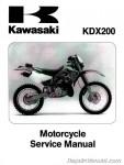 1995-2006 Kawasaki KDX200 KDX220 Factory Service Manual