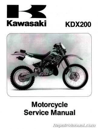 1995-2006 Kawasaki KDX200 KDX220 Factory Service Manual