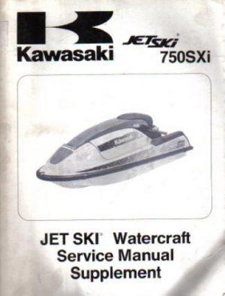 Used Official 1995 Kawasaki 750SXi Jet Ski JS750 B-1 Factory Service Manual Supplement
