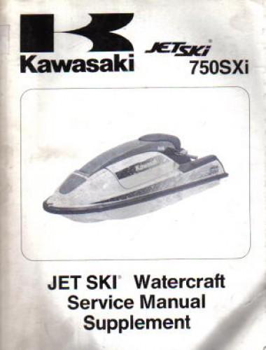Used 1995 Kawasaki 750sxi Jet Ski Js750 B 1 Service Manual