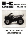 Official 1997-1998 Kawasaki KVF400 Prairie 4x4 Factory Service Manual