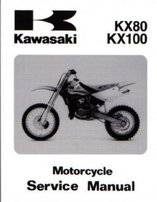 Official 1998-2000 Kawasaki KX80W KX100C Factory Service Manual