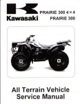 Official 1999-2002 Kawasaki KVF300 Prairie Factory Service Manual