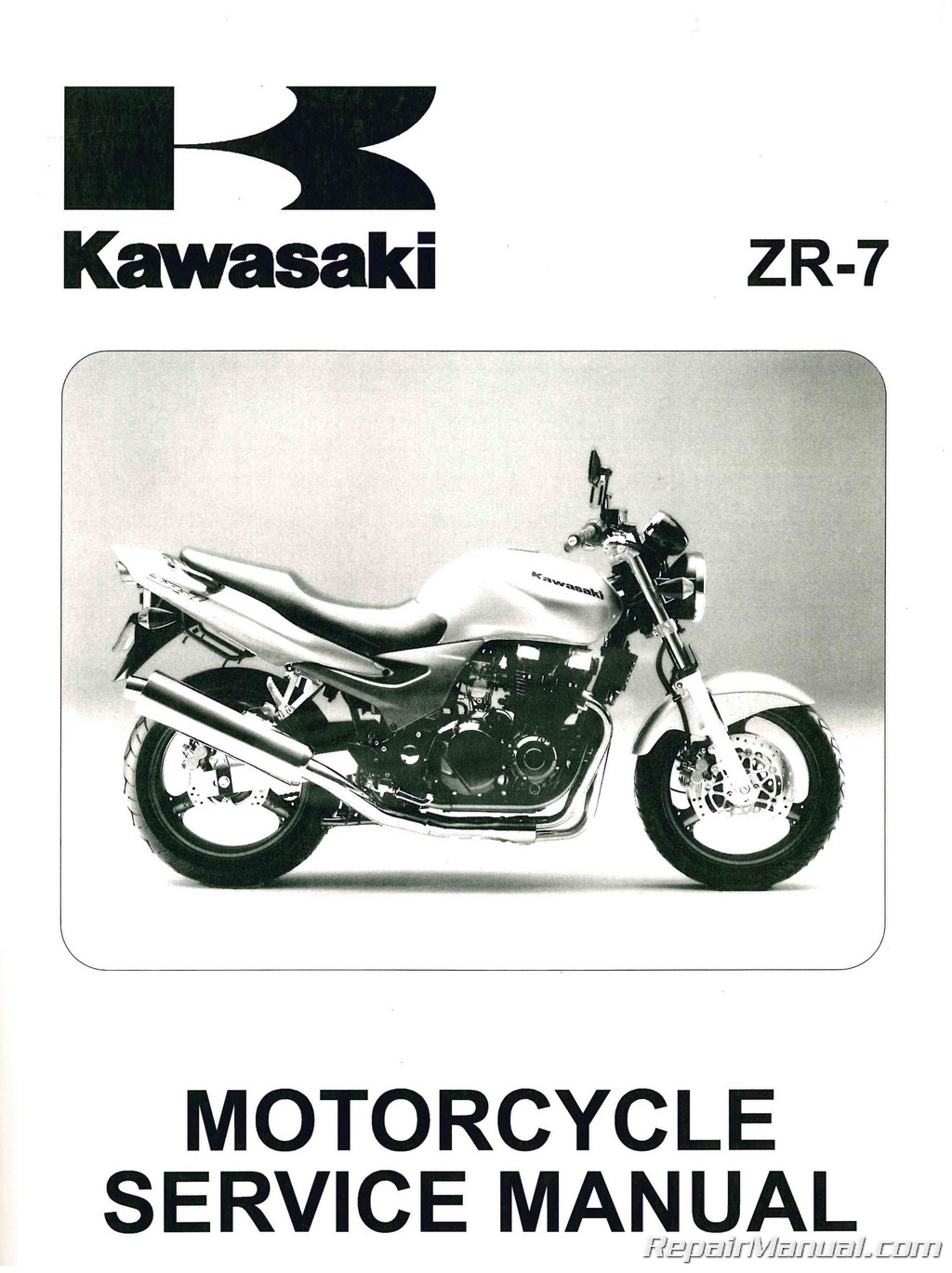 Kawasaki Zr750f Zr 7 Motorcycle Manual 1999 2003