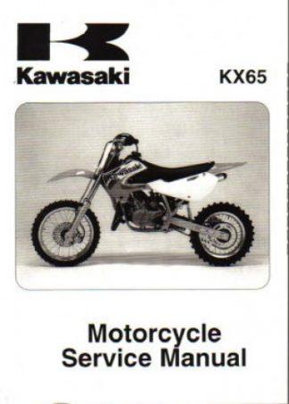 Official 2000-2009 And 2011 Kawasaki KX65 Factory Service Manual