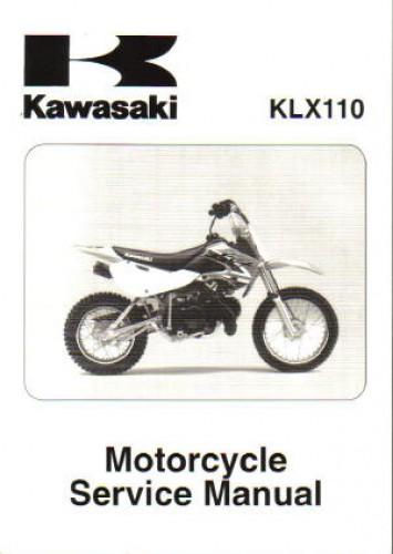 Official 2002-2009 Kawasaki KLX110 Factory Service Manual