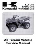 Official 2003-2008 Kawasaki KLF250-A1 Bayou Factory Service Manual
