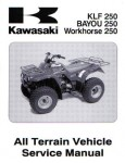 Official 2003 Kawasaki KLF250-A1 Bayou Factory Service Manual