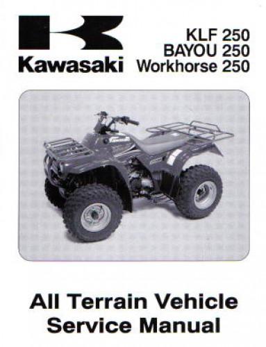 Official 2003 Kawasaki KLF250-A1 Bayou Factory Service Manual