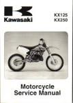 Official 2003-2008 Kawasaki KX125 2003-2004 KX250 Motorcycle Service Manual