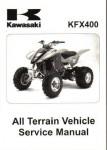 Official 2003-2006 Kawasaki KFX400A ATV Service Repair Manual