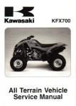 Official 2004-2009 Kawasaki KFX700 V Force Factory Service Manual