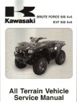 Official 2005-2011 Kawasaki KVF650D E Brute Force 4x4 Factory Service Manual