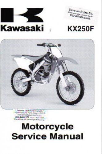 2006 2008 Kawasaki Kx250f Motorcycle Service Manual