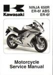 Official 2006 Kawasaki Ninja 650R EX650A Factory Service Manual