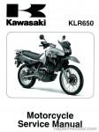 Official 2008-2011 Kawasaki KL650E KLR650 Factory Service Manual