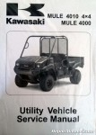 Official 2009-2013 Kawasaki KAF620M N P Mule 4010 4x4 Mule 4000 Factory Service Manual