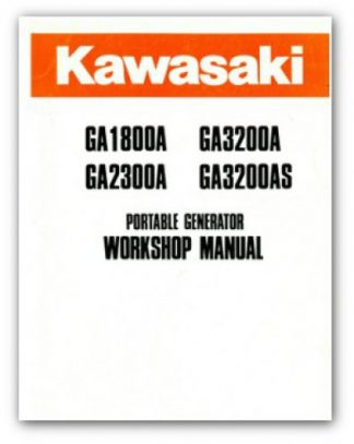 Kawasaki GA1800A GA3200A GA2300A GA3200AS Portable Generator Service Manual