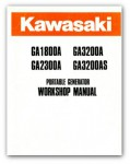 Used Kawasaki GA1800A GA3200A GA2300A GA3200AS Portable Generator Service Manual