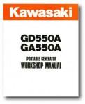 Kawasaki GD550A GA550A Portable Generator Service Manual