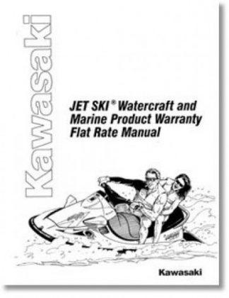 Official Kawasaki Factory JET SKI Watercraft and Marine Product Warranty Flat Rate Manual