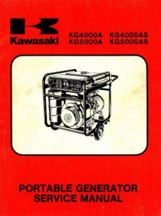Kawasaki KG4000A KG4000AS KG5000A KG5000AS Portable Generator Service Manual