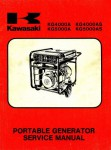 Used Official Kawasaki KG4000A KG4000AS KG5000A KG5000AS Portable Generator Service Manual